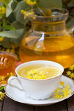 Linden tea with honey Stock Photography