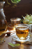 Linden tea with honey in sunshine Stock Photography