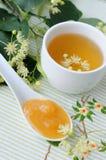 Linden tea and linden honey Royalty Free Stock Photos