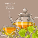 Linden tea vector background Royalty Free Stock Images