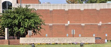 Lindenwood Presbyterian Church Sign Memphis, TN. Royalty Free Stock Photos