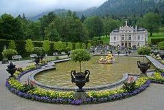Linderhof城堡,德国 库存图片