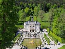 Linderhof宫殿,巴伐利亚,德国 免版税库存照片
