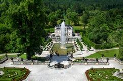 Linderhof宫殿 免版税库存照片