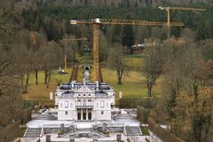Linderhof宫殿Schloss Linderhof 免版税图库摄影