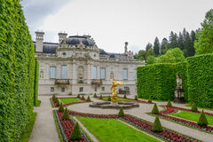LINDERHOF,德国- Linderhof宫殿是Schloss在德国 免版税库存照片