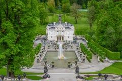 LINDERHOF, ΓΕΡΜΑΝΙΑ - το παλάτι Linderhof είναι ένα Schloss στη Γερμανία Στοκ φωτογραφίες με δικαίωμα ελεύθερης χρήσης