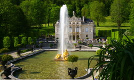 linderhof παλάτι Στοκ φωτογραφία με δικαίωμα ελεύθερης χρήσης
