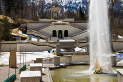 Linderhof castle. In the south part of germany Stock Images