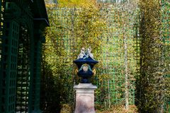 Linderhof Castle. A little statue in Linderhof Castle Stock Photo