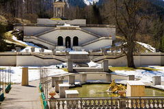 Linderhof castle. In the south of germany in bavaria Stock Photo