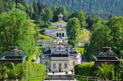Linderhof Castles_1. The castel of Ludwig II Stock Photos