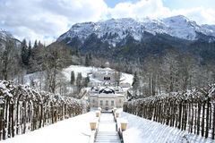 Linderhof de château du Roi Ludwigs Image libre de droits