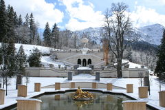 Linderhof do castelo do rei Ludwigs Fotografia de Stock