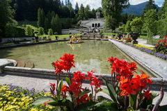 Linderhof garden, Bavaria, Germany Royalty Free Stock Image