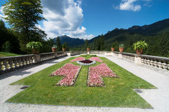 Linderhof gardens and park Stock Photos
