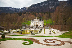 Linderhof Palace. Is in Germany, near Oberammergau in southwest Bavaria near Ettal Abbey. It is the smallest of the three palaces built by King Ludwig II of Royalty Free Stock Images