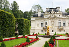 Linderhof palace. Palace in Linderhof, Germany from the park side Stock Images