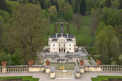 Linderhof palace. King Ludwigs Castle Linderhof in Bavaria. Germany Royalty Free Stock Photography