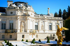 Linderhof Palace in a Autumn Day Royalty Free Stock Image