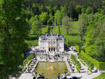 Linderhof Palace , Bavaria, Germany. Linderhof Palace in southwest Bavaria. It is the smallest of the three palaces King Ludwig II Royalty Free Stock Photos