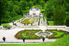 Linderhof Palace Garden. Landscape with Garden in Linderhof Palace. Germany Royalty Free Stock Images