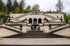 Linderhof Palace with Garden. Royalty Free Stock Photos