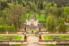 Linderhof Palace with Garden. Stock Photos