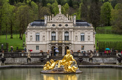 Linderhof Palace with Garden. royalty free stock photography