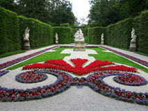 Linderhof Palace gardens at summer Stock Photography