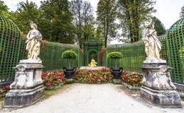 Linderhof palace park Royalty Free Stock Photos