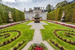 Linderhof palace park Royalty Free Stock Images