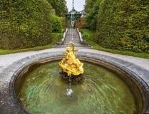 Linderhof palace park Stock Photos