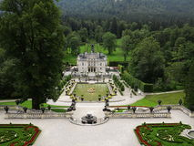 Linderhof Palace and park at summer Stock Image
