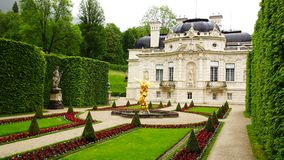 Linderhof Palace. Picturesque landscape with the Linderhof Palace, Germany Stock Photos