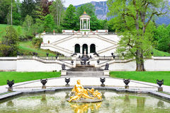 Linderhof Palace's Garden, Germany Stock Images