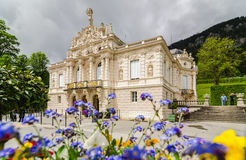 Linderhof Palace is a Schloss in Germany, in southwest Bavaria. ETTAL, GERMANY - JUNE 5, 2016: Linderhof Palace is a Schloss in Germany, in southwest Bavaria Royalty Free Stock Photo
