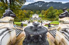 Linderhof park Royalty Free Stock Images