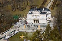 Linderhof-Schloss Stockbild
