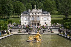 Linderhof Schloss Stockbild