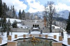 Linderhof Schloss des Königs Ludwigs stockfotografie