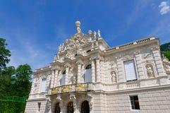 Linderhof slott i Tyskland Arkivbilder