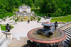 Linderhof slott i Tyskland Royaltyfria Foton
