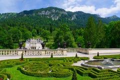 Linderhof slott i Tyskland Arkivfoto