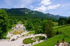 Linderhof slott i Tyskland Fotografering för Bildbyråer