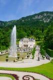 Linderhof slott i Tyskland Royaltyfri Fotografi
