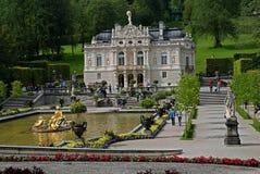Linderhof slott, Tyskland Royaltyfria Bilder