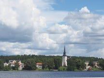 Lindesberg, uma cidade pequena na Suécia Foto de Stock