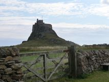 Lindesfarne Castle royalty free stock photo