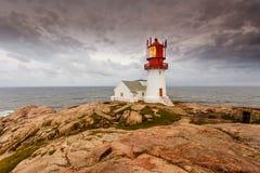 Lindesnes灯塔在挪威 图库摄影